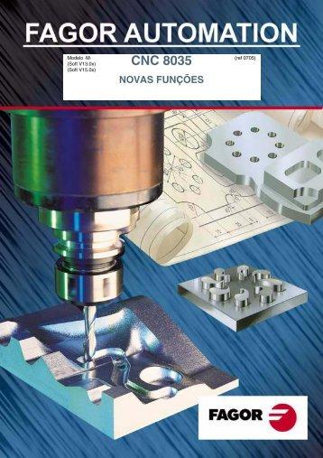 CNC 8035 - Novas Funções - fagor automation do brasil