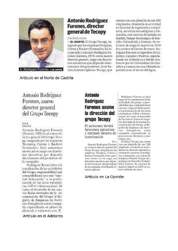 Antonio Rodríguez Furones, nuevo director general del Grupo Tecopy