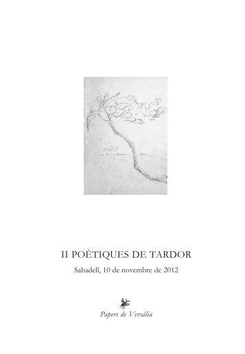 Quadern P.Tardor [QXP 5].qxd - Papers de Versàlia