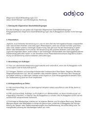 Allgemeine Geschäftsbedingungen von adsco Gmbh Design- und ...