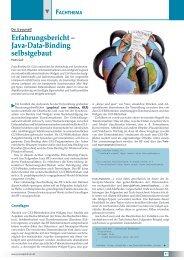 Erfahrungsbericht – Java-Data-Binding selbstgebaut