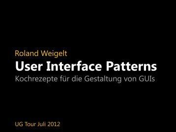 UI Patterns - Roland Weigelt