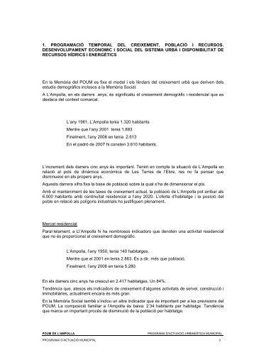 Programa d'actuació municipal - Ampolla