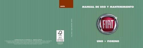 MANUAL DE USO Y MANTENIMIENTO 5./ - Fiat