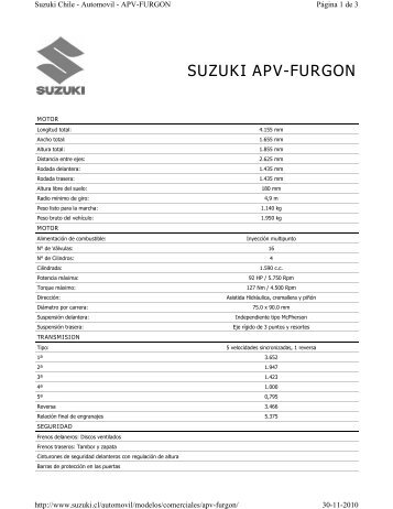 SUZUKI APV-FURGON