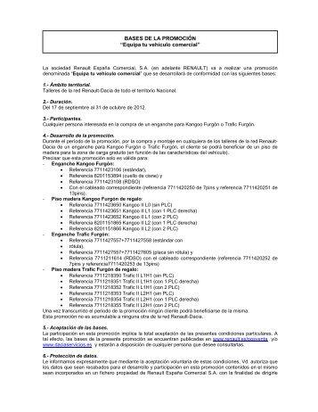 CP Equipa tu vehículo comercial - Renault