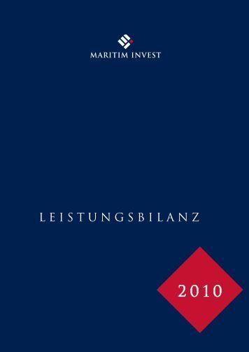 Maritim Invest Leistungsbilanz 2010 (PDF - 4,18 MB)