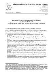 Arbeitsgemeinschaft christlicher Kirchen in Bayern - Ack-Bayern