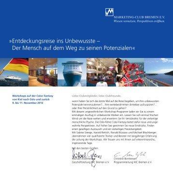 Entdeckungsreise ins Unbewusste - Marketing-Club Bremen eV
