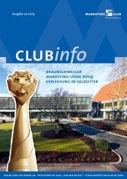 MCB ClubInfo 03-09 - Marketing-Club Braunschweig