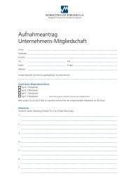 Information und Antrag für eine Unternehmensmitgliedschaft