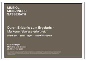 Durch Erlebnis zum Ergebnis - Marketing-Club Bremen eV