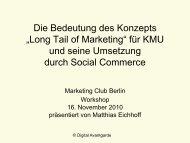 The Long Tail of Marketing und Social Media Marketing Club Berlin ...