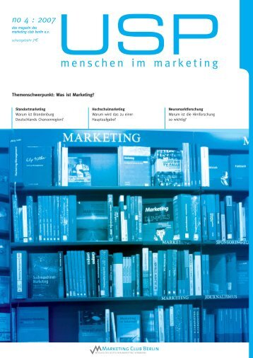 Themenschwerpunkt: Was ist Marketing? - Marketing Club Berlin