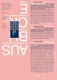 EIN BLI CK - Staatliche Akademie der Bildenden Künste Stuttgart
