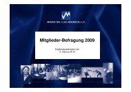 Mitglieder-Befragung 2009 - Marketing Club Nürnberg