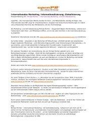 Internationales Marketing - Interna- tionalisierung - Globalisierung