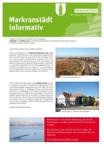 Ausgabe 12.pdf - Stadt Markranstädt