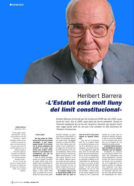 Heribert Barrera «L'Estatut està molt lluny del límit constitucional»