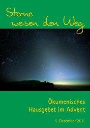 Ökumenisches Hausgebet im Advent - Arbeitsgemeinschaft ...