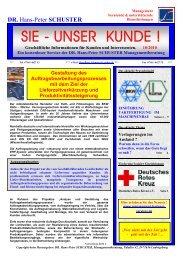 SIE - UNSER KUNDE ! - Dr. Schuster Managementberatung
