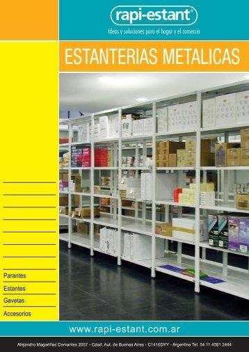 Catálogo Estanterías Metálicas - Rapi-Estant