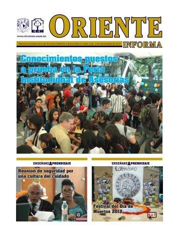 Conocimientos puestos a prueba en la Feria ... - CCH Oriente