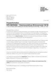 DIPLOMORAMA – Diplomausstellung Wintersemester 08/09
