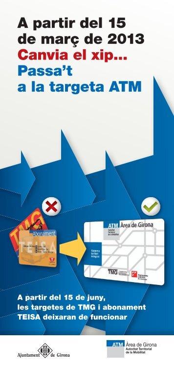 Diptic targeta ATM pàgines.indd - Ajuntament de Girona