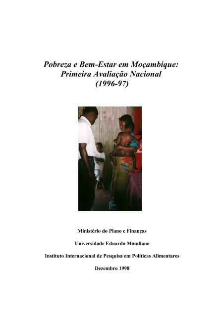 Pobreza e Bem-Estar em Moçambique: Primeira Avaliação Nacional ...