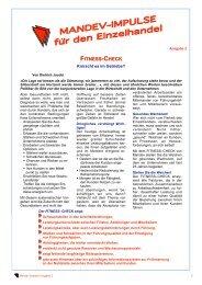 Der Fitness-Check - Mandev Europe GmbH