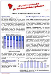 Chancen nutzen - Die Generation 50+ - Mandev Europe GmbH