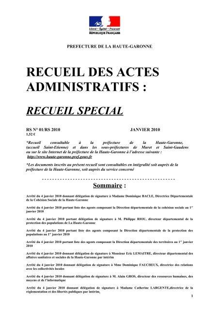 Recueil Special Portail De La Haute Garonne