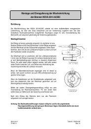 Montage und Einregulierung der ... - ABIC Brennertechnik GmbH