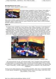 1. oldal, összesen: 2 ..::A Rally Hírek Oldala::.. RallyHir.hu - Ahol A ...