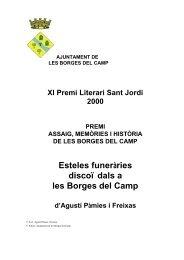 Esteles funeràries discoïdals a les Borges del Camp