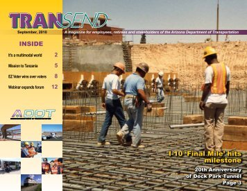 TRANSend September 2010 - Arizona Department of Transportation