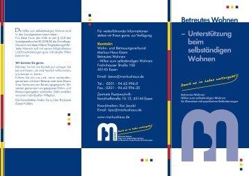 Flyer BeWo.pdf - Markus-Haus Essen