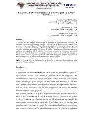 desenvolvimento territorial e intervenções no espaço rural - LAGEA