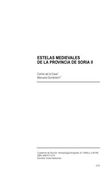 Estelas medievales de la provincia de Soria II