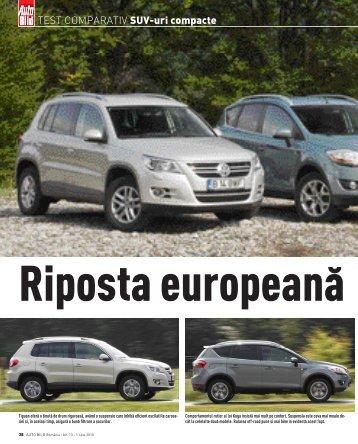 TEST COMPARATIV SUV-uri compacte