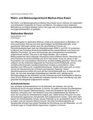 Wohn- und Betreuungsverbund Markus-Haus Essen Stationärer ...