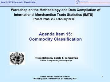 Commodity Classification - United Nations Statistics Division