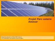 Présentation parc solaire à la préfecture le 20 - estavar