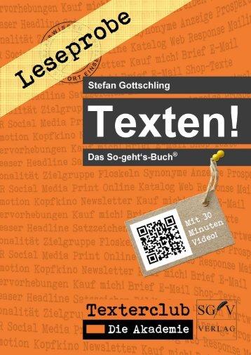 Leseprobe Texten! QR-Codes