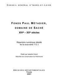 112 J. Fonds Paul Métadier, domaine de Saché - Archives ...