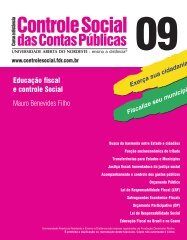 Educação fiscal e controle Social - TCM-CE
