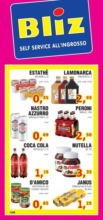 ESTATHÈ LAMONARCA COCA COLA NUTELLA D ... - world mark