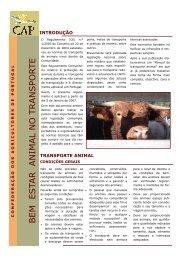 Bem-Estar Animal no Transporte - CAP - Agricultores de Portugal