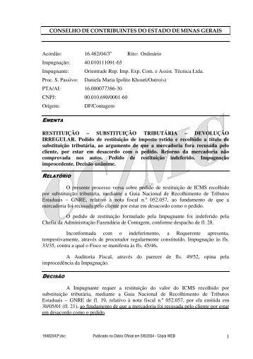 Microsoft Word - 16482043\252.doc - Secretaria de Estado de ...